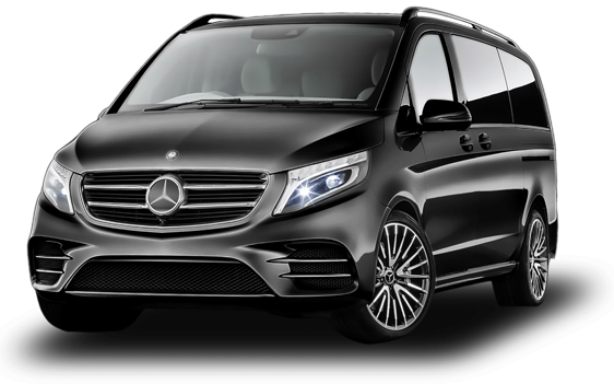 Private airport transfer in a luxury mercedes